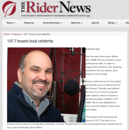 The Rider News, 107.7 boasts local celebrity